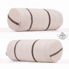 Modern Decoration Cylinder Kilim Pillow White Striped Bolster Cushion