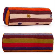 Ethnic Colorful Bolster Kilim Pillow Decorative Boho Living Decor Throw
