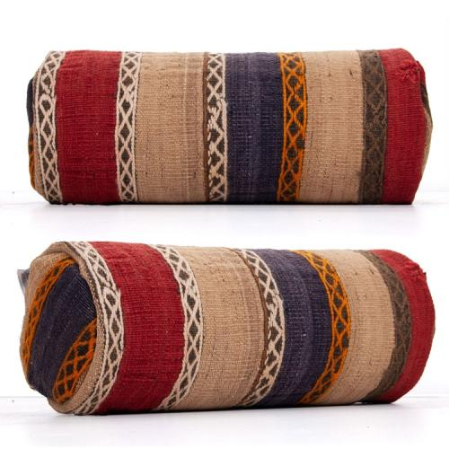 Ethnic Decorative Bolster Kilim Pillow Embroidered Anatolian Cushion