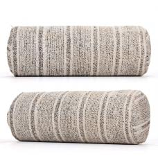 Gray Striped Turkish Kilim Pillow Cylinder Bolster Sofa Decor Cushion