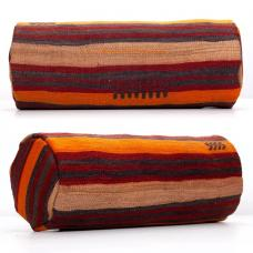 Striped Decorative Bolster Kilim Pillow Vintage Ethnic Cylinder Throw