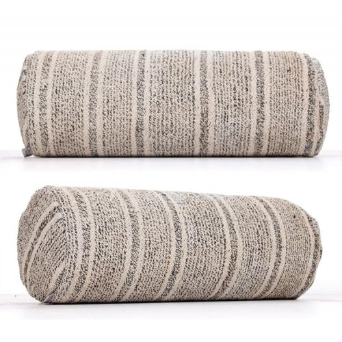 Striped Modern Home Decor Gray Bolster Kilim Pillow Striped Sofa Throw
