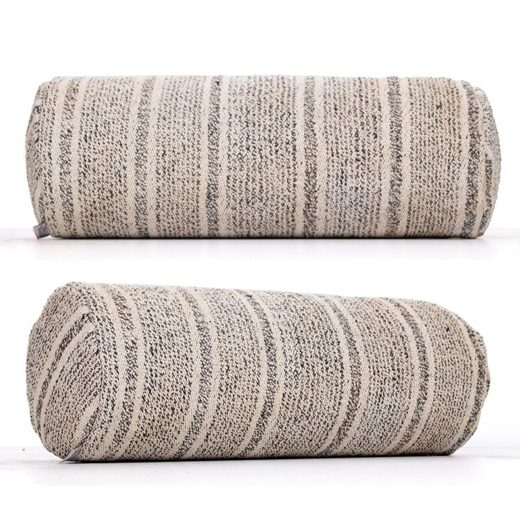 striped modern home decor gray bolster kilim pillow striped sofa throw