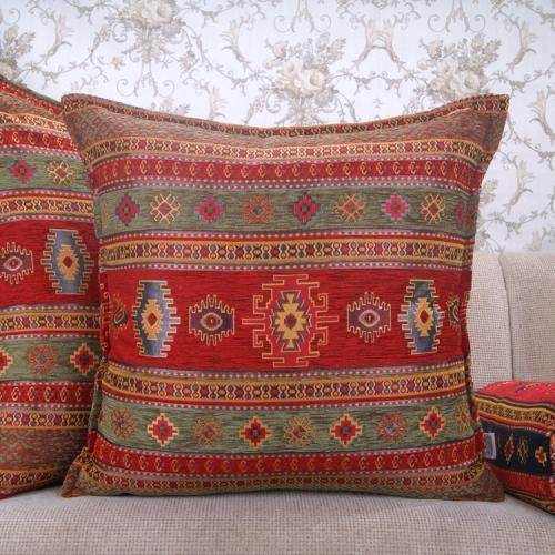 Traditional Kilim Pattern Square Pillow Ethnic Decorative Turkish Cushion