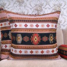 Black~White Ethnic Kilim Pillow Decorative Turkish Cotton Square Cushion
