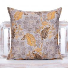 Orange & Beiges Floral Pillow Soft Touch Decorative Home Decor Cushion