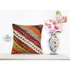 Anatolian Retro Kilim Pillow Interior Decoration Turkish Designer Cushion Cover