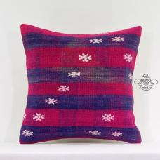"Boho Chic Kilim Pillow Turkish Decorative Cushion Cover 16"" Interior Decor Sham"