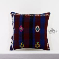 Cottage Beauty Embroidered Pillow Turkish Vintage Kilim Cushion Sham Floor Throw