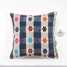 Ethnic Cottage Chic Cushion Cover 16x16 Turkish Kilim Pillow Eclectic Decor Sham