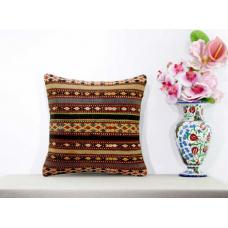 "Interior Designing Aztec Kilim Pillow Living Room Decor 16"" Sham Natural Cushion"