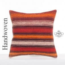 Colorful Striped Kilim Rug Cushion Decorative Sofa Couch Throw Pillow
