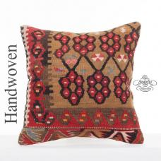 "Oriental Decorative Kilim Cushion 16x16"" Sofa Couch Floor Throw Pillow"