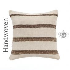 "Modern Cottage Pillow White Kilim Pillowcase 16x16"" Turkish Kelim Rug Cushion Cover"