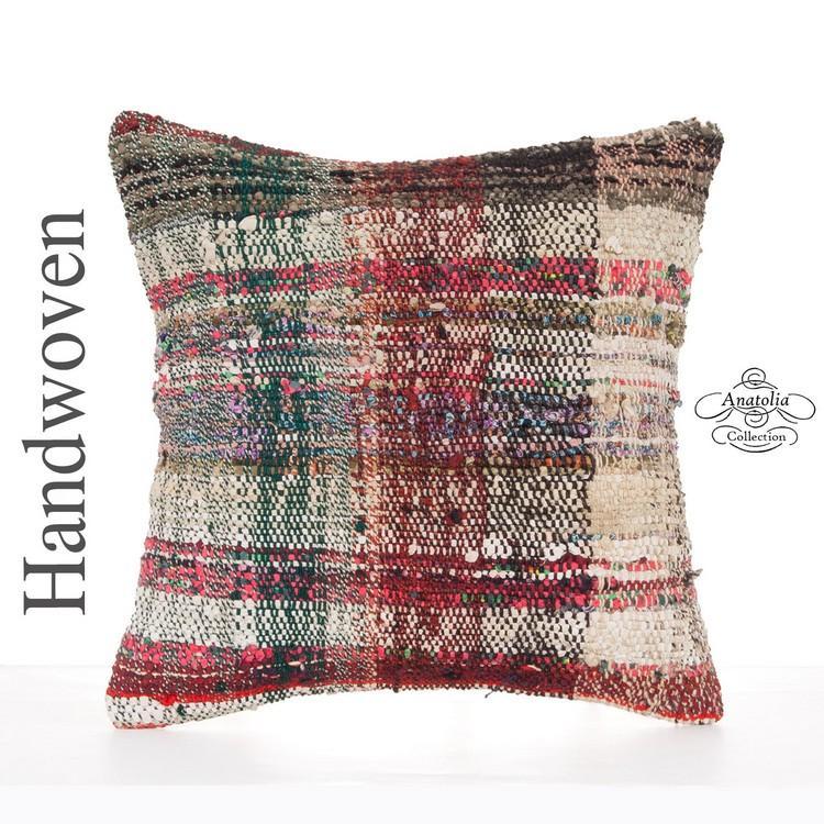 Boho Chic Retro Deco Pillow Cover 16 Colorful Kilim Sofa Couch Throw