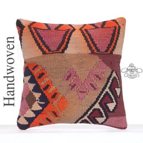 Ethnic Decorative Turkish Kilim Throw Pillow Tribal Handmade Cushion