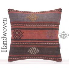 Retro Kilim Pillow Cover Shabby Decorative Embroidered Kelim Pillow