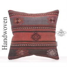 "Vintage Embroidered Kilim Pillow 16x16"" Ethnic Decorative Sofa Throw"