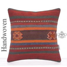 Eclectic Designer Kilim Pillowcase Anatolian Rug Cushion Sofa Throw
