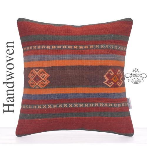 Eclectic Designer Kilim Pillowcase Anatolian Rug Cushion Sofa Throw