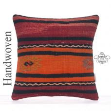 Striped Vintage Kilim Throw Pillowcase Retro Home Decor Throw Pillow