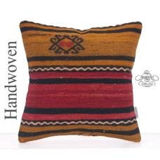 Ethnic Striped Square Kilim Pillow Decorative Retro Turkish Cushion