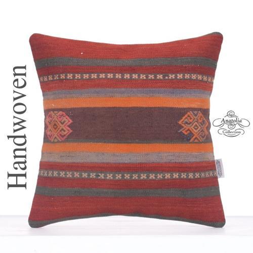 "Vintage Decorative 16"" Kilim Cushion Embroidered Retro Sofa Bed Throw"