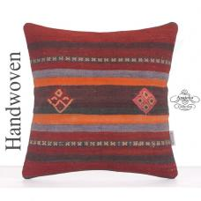 "Home & Garden Decoration Accent Square Kilim Pillow 16"" Retro Cushion"