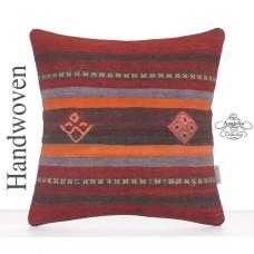"Home & Garden Decoration Accent Square Kilim Pillow 16"" Retro Cushion"