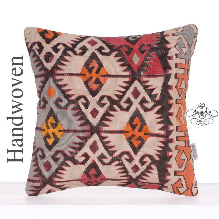 40x40 cm 16x16 inch,Kilim Pillow Case,Kilim Pillow,Carpet Pillow,Moroccon Pillow,Decorative Pillow,Ethnic Pillow,Antique Pillows,Rug Pillows