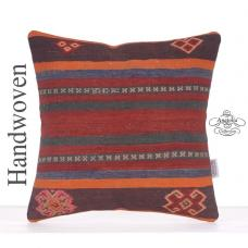 Retro Kilim Rug Pillow Decorative Turkish Kelim Cushion Sofa Cushion