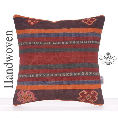 Retro Kilim Rug Pillow Decorative Turkish Kelim Cushion Sofa Cushion
