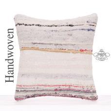 "Modern Decorative 16x16"" Kilim Rug Pillow Square Contemporary Cushion"