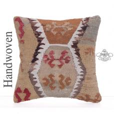 "Old Handmade Kilim Pillow Cover 16x16"" Interior Decor Throw Pillowcase"