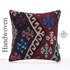 "Oriental Handmade Cushion 16x16"" Decorative Kilim Rug Throw Pillow"