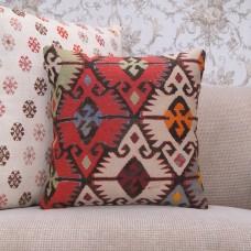 "Designer Kilim Cushion Handmade 16"" Ethnic Interior Decor Throw Pillow"