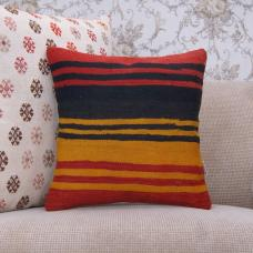 "Striped Kilim Rug Pillowcase 16x16"" Home Decor Accent Sofa Throw Pillow"
