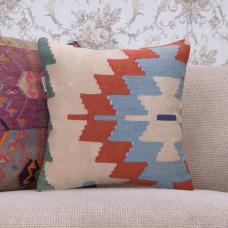 "Tribal Anatolian Cushion 16"" Ethnic Handmade Old Kilim Rug Throw Pillow"