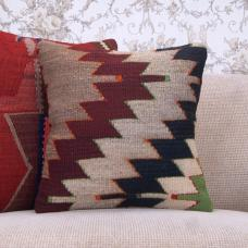 "Aztec Decorative Handmade Pillow Cover 16x16"" Old Kilim Rug Sofa Throw"