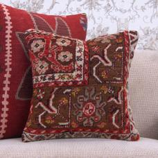 "Anatolian Handmade Rug Pillow 16x16"" Oriental Turkish Carpet Cushion"