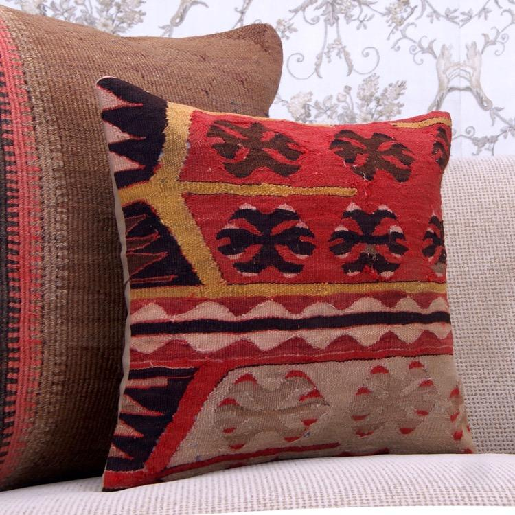 Antique Decorative Kilim Pillow Cover 16 Quot Ethnic Anatolian