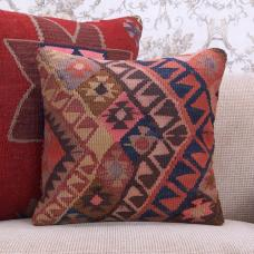"Colorful Retro Kilim Pillow Vintage 16x16"" Home Decor Throw Pillowcase"