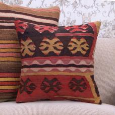 Ethnic Decor Accent Kilim Pillow Handmade Vintage Decorative Cushion