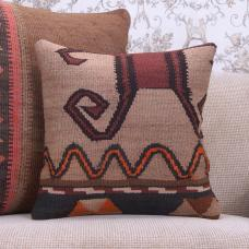 "Tribal Decorative Vintage Cushion Cover 16x16"" Turkish Kilim Rug Throw"