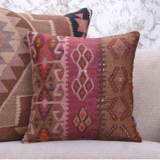 Oriental Vintage Kilim Pillow Cover 16x16 Retro Sofa Couch Decor Throw