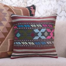 "Turkish Decorative Retro Kilim Rug Pillow 16"" Tribal Sofa Couch Throw"