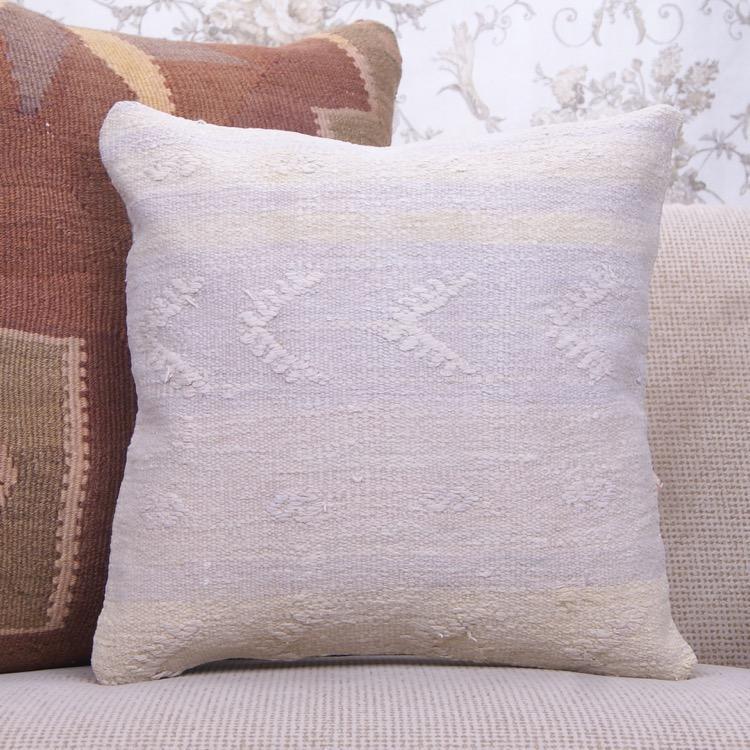 Contemporary Kilim Throw Pillow 16x16\