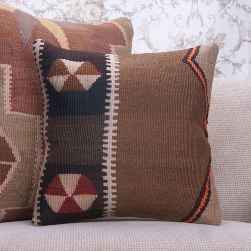 Eastern Cottage Decor Pillow Fine Handmade 16x16 Colorful Kilim Cushion