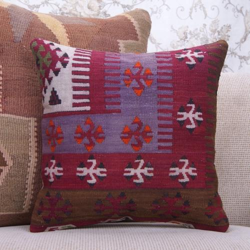 "Retro Home Decoration Accent Kilim Cushion 16x16"" Oriental Rug Pillow"