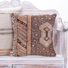 "Retro Boho Home Vintage Rug Pillow 16"" Earthy Sofa Decor Throw Cushion"